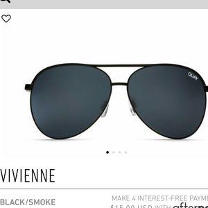 Quay Australia Vivienne Aviator black sunglasses